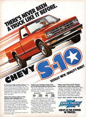 1982 Chevrolet Chevy S-10 Pickup Truck USA Original Magazine Advertisement (Darren Marlow) Tags: 1 2 8 9 19 82 1982 c chev chevy chevrolet s 10 s10 p pick u up t truck a automobile v vehicle car cool collectible collectors classic us usa united states g m gm general motors american america 80s