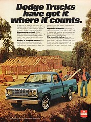 1977 Dodge D100 Pick-Up Truck Chrysler USA Original Magazine Advertisement (Darren Marlow) Tags: 1 7 9 19 77 1977 d dodge 10 100 d100 p pick u up t truck c chrysler car cool collectible collectors classic a automobile v vehicle m mopar us usa united s states american america 70s