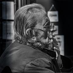 Smoke break (Nikonsnapper) Tags: olympus omd em5 street bw smoking fineart cardiff stphotographia
