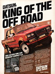 1982 Datsun King Cab 4X4 Pickup Truck Nissan USA Original Magazine Advertisement (Darren Marlow) Tags: 1 2 4 8 9 19 82 1982 d datsun k king c cab 4x4 p pick u up t truck n nissan car cool collectible colletors classic a automobile v vehicle j jap japan japanese asian asia 80s