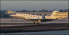 Photo of N555GA Gulfstream G650ER c/n 6334 Hill Air Corp (Farnborough-EGLF) 19/01/2020