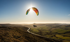 free falling (Phil-Gregory) Tags: peakdistrict paraglider nikon d7200 cheshire shining tor sunstar sunburst flying freedom tokina tokina1120mmatx wideangle ultrawide