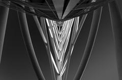look up II (rainerralph) Tags: schwarzweiss a7r3lissabon steelconstruction myriad lisboa fe4024105g parquedasnações stahlkonstruktion sony vascodagamatower blackwhite sonyalpha portugal architcture architektur