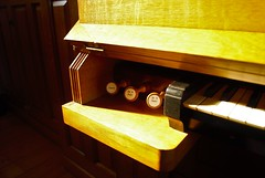 Pedaler (craftmunky07) Tags: church organ knobs piano musicalinstrument music middleborough massachusetts lighting naturallight contrast shadows