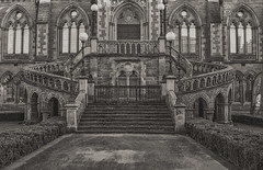 McManus Gallery (johnny_9956) Tags: gallery blackandwhite bw building scotland dundee uk outdoor outside urban city
