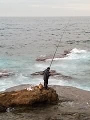 fisherman (Levana Una Laitman) Tags: beirut lebanon sea