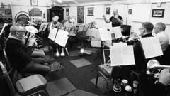 28a Knottingley Silver Band A (I ♥ Minox) Tags: film 2019 knottingley knottingleysilverband brassband windband music musician musicians rehearsal yorkshire westyorkshire olympus om1 om1n olympusom1 olympusom1n ilford hp5 ilfordhp5plus hp51600 1600asa