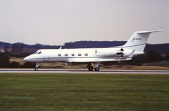 Photo of N555KC Gulfstream III Luton August 1996