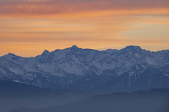 blue mountains (crazyhorse_mk) Tags: alps schesaplana vorarlberg cantonofcrisons austria switzerland kressbronn sonnenhof bodensee lakeconstance mountain summit sky clouds sunset blue