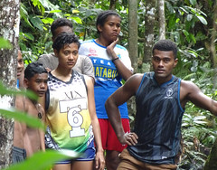 Waiting Their Turn (mikecogh) Tags: colisuva forest waterfall youth waiting queue fiji