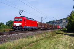 DB 186 im Maintal (Eisenbahn Münsterland) Tags: db 186 333 mischer ez gemischter güterzug zug eisenbahn strecke deutsche bahn maintal neu rot verkehrsrot münsterland