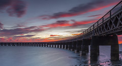 Tay rail bridge (adamcaird) Tags: canon canon5dsr canonuk colourful sunset water waterscape clouds sky architecture scotland dundee outdoors outdoor orange pink ngc railway flickr flickrcentral longexposure filter leefiltersuk