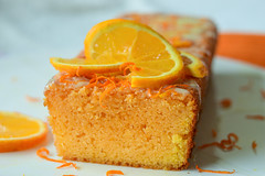 Orange yogurt loaf cake with white chocolate glazing (gamze avci) Tags: moist sweet loaf nikon winter baking photography food dessert cake orange