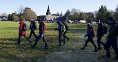 Photo of A walking group strides out for the Chess Valley