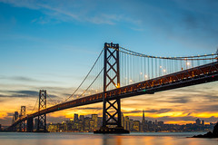 Dances Like a Diamond Shines (Thomas Hawk) Tags: america bayarea baybridge california sf sfbayarea sanfrancisco usa unitedstates unitedstatesofamerica westcoast yerbabuenaisland bridge norcal sunset fav10 fav25 fav50 fav100