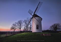 Ashton Windmill as the sunsets (Ade Ward Phototherapy.) Tags: trees sunset england sky rural landscape nikon scenery somerset windmills oldbuildings british ashtonwindmill