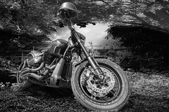 Norther Car & Bike Show 2020 (Thunder1203) Tags: aurorahdr canoneos80d carshow chrome custombikes northerncarandbikeshow pascoevale standrewscricketclub topazstudio bikelife bikerlife hdr onshow monochrome blackandwhite on1photoraw edited