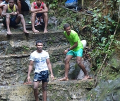 Rugby Tricks (mikecogh) Tags: colisuva fiji forest waterfall steps men rugby exercises ball