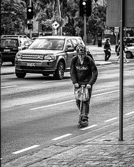 Human powered (Chris (a.k.a. MoiVous)) Tags: streetphotography citywestprecinct adelaidecbd streetlife
