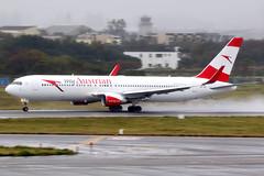Austrian Airlines   Boeing 767-300ER   OE-LAY   Taipei Taoyuan (Dennis HKG) Tags: austrian austrianairlines aua os aircraft airplane airport plane planespotting staralliance canon 7d 100400 taipei taiwan taoyuan rctp tpe boeing 767 767300 boeing767 boeing767300 767300er boeing767300er oelay