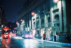 London (goodfella2459) Tags: nikonf4 afnikkor50mmf14dlens cinestill800t 35mm c41 film analog night city streets road london buildings bus light manilovefilm
