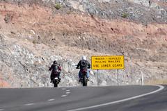 Against the wall (twm1340) Tags: motorcycle rider riders biker bikers interstate highway az arizona