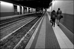 Platform (GColoPhotographer) Tags: commuting milano bianconero street train blackandwhite bw station travel