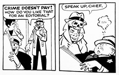 2020 Crime Does Not Pay - Dick Tracy playing with evidence 4540 (Brechtbug) Tags: 2020 crime does not pay dick tracy playing with evidence which is human skull kinda weird detective comic strip chester gould created drawn hero heroes holiday mythology newspaper news paper cartoon comics sunday funnies 1970 1970s 70s trick or treat criminal killer 1937 1930s 30s shadow like