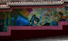 Mural Outside Wall of Cementerio General de Almudena Cusco (krossbow) Tags: panasonic lumix tz90 zs70 peru cuzco cusco cementerio general de almudena gate1travel travel gate1 trip vacation adventure south america southamerica mural cemetery wall