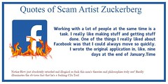 Quotes of Infamous Mark Suckerberg. Working with a lot of people at the same time is a task. I really like making stuff and getting stuff done. One of the things I really liked about Facebook was that I could always move so quickly. I wrote the original a (fuckfacebookpro) Tags: fuck zuck facebook free speech