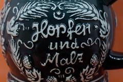 on my mug of beer- Macro mondays ceramic (fabiovalerio) Tags: macro monday beer ceramic wite black 50mm extension tube hmm mug