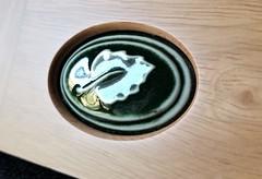 macro mondays - ceramic 2 (http://www.yashicasailorboy.com) Tags: macromondays ceramic picture leaf green macro