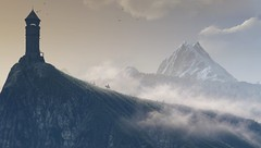 """""""High And Mighty"""" (HodgeDogs) Tags: videogames flickr openworld grass redengine inexplore explore sky tower photography mist fog witcher nvidia pc games gaming larahjohnson cdpr cdprojectred witcher3"""
