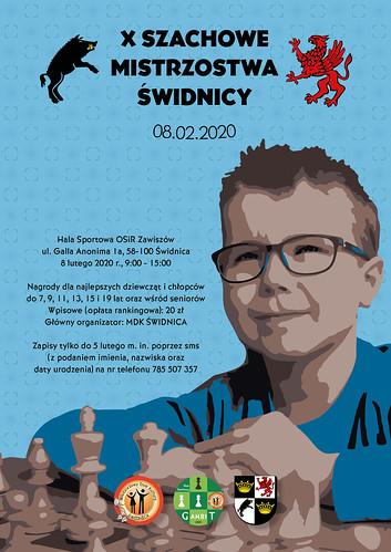 2020 02 08 Plakat X Szachowych Mistrzostw Świdnicy