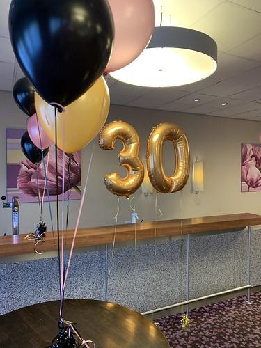 Folieballon Cijfer 30 Van der Valk Hotel Ridderkerk