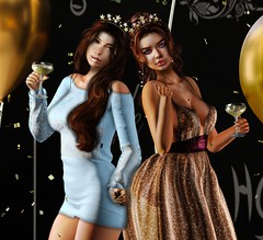 Every day is a party, when you're with good friends (Aleriah.) Tags: amitie champagne friends friendship nerido party secondlife sister sl truth virtualfashion virtualgirls