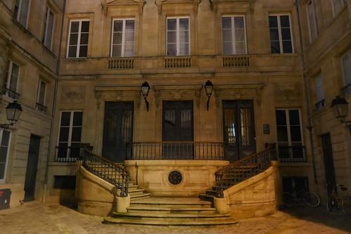 Mystère d'une cour d'hôtel, rue Porte-Dijeaux, Bordeaux, Nouvelle-Aquitaine, France.