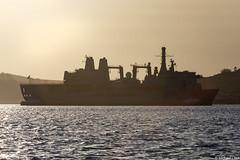 RFA Fort Victoria, A387, IMO 8606032; Kames Bay, Firth of Clyde, Cowal, Scotland (Michael Leek Photography) Tags: ship boat vessel workingboat workboat tug navaltug rfa royalfleetauxiliary royalnavy rn hmnbclyde hmnb firthofclyde kamesbay bute lochstriven argyllandbute argyll cowal cowalpeninsula scotland scottishlandscapes scottishcoastline scotlandslandscapes scottishshipping replenishmentship navalauxiliary britainsarmedforces britainsnavy michaelleek michaelleekphotography