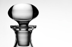 Stopper (Karen_Chappell) Tags: glass bw stopper shape curves carafe stilllife blackandwhite abstract bottle product monochrome minimalism oval