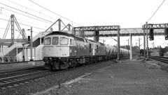 Class 33,s at Birmingham International 1980. (flashbangmilly) Tags: soho birmingham international cement pool 33037 33030 cl33 1980