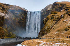 Skogafoss in Iceland (y.froehlich) Tags: iceland island skogafoss watterfall water cold travel photography nikon d7500 luminar luminar3 people nature