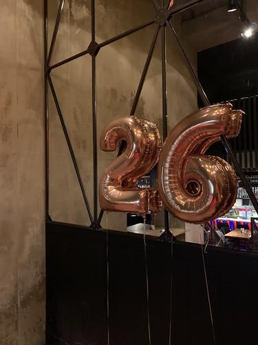 Folieballon Cijfer 26 Cafe in the City Rotterdam