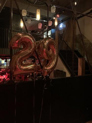 Folieballon Cijfer 29 Cafe in the City Rotterdam