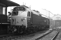 A very dull day at Crewe Works 1976. (flashbangmilly) Tags: 50032 crewe 1976 works cl50