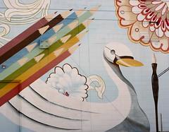 Orlando Public Art Swan and Pencils (Jay Costello) Tags: orlando florida orlandoflorida fl streetart publicart art graffiti mural artsupplies swan pencils