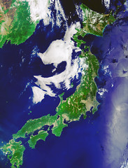 Japan, 24 May 2019, variant (sjrankin) Tags: 20january2020 edited esa europeanspaceagency ccbysa30igo japan pacificocean seaofjapan hokkaido honshu shikoku kyushu clouds russia china