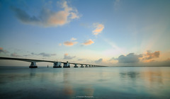 Zeeland Bridge (titidylan) Tags: outdoors sky bridge built structure cloud nature sea architecture water sunset connection beauty travel destinations scenics
