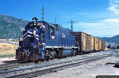 Done at Draper (jamesbelmont) Tags: missouripacific unionpacific emd gp382 sandylocal draper utah intermountainfarmers train railroad railway locomotive