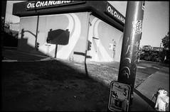 West Grand/MLK, Oakland (icki) Tags: ca california martinlutherking oakland october2019 westgrandave westgrandavenue blackandwhite firehydrant nopeople shadows street