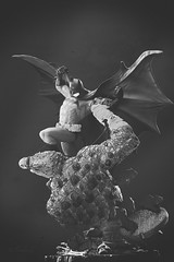 Batman vs Killer Croc | Statue | DC Collectibles (leadin2) Tags: canon 2018 collectibles dc statue diorama justice league detective batman darkknight dark knight killer croc versus reptilian enemy universe battle comics black white blackandwhite